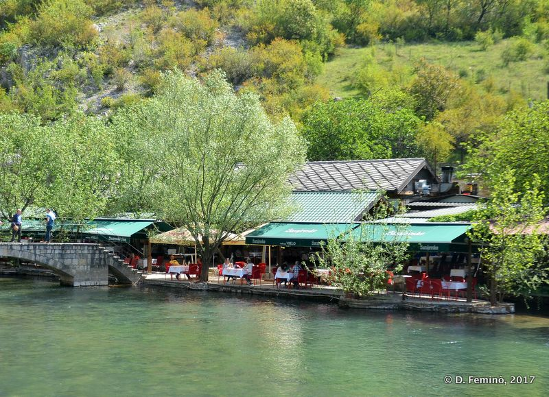 Restaurant by the river (Blagaj, Bosnia, 2017)