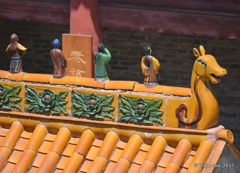 Detail of the roof of a temple (Jiankou, China, 2017)