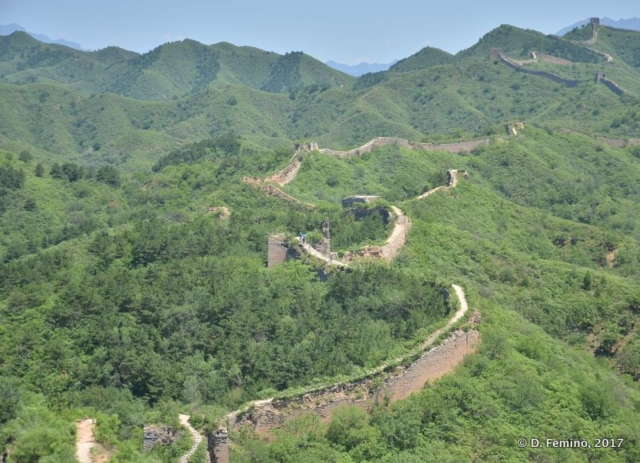 The winding shape of Great Wall (China, 2017)