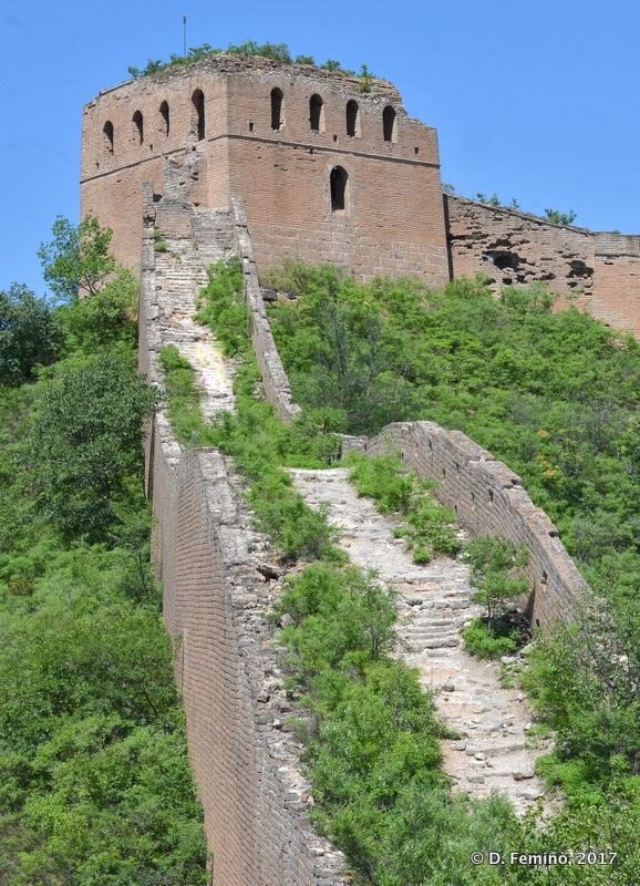 The last tower of the hike (Great Wall, China, 2017)