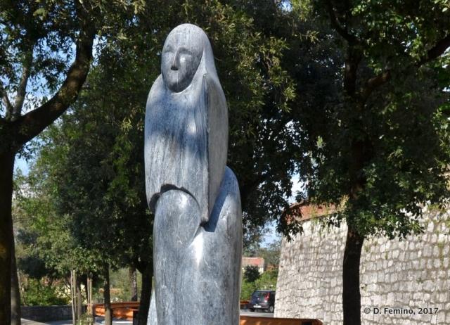 Our lady in a modern representation (Rijeka, Croatia, 2017)