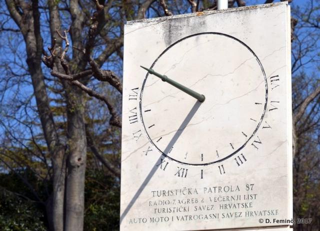 A sundial (Krk, Croatia, 2017)