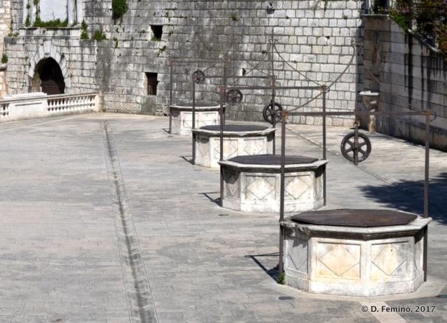 Three out of five pits (Zadar, Croatia, 2017)