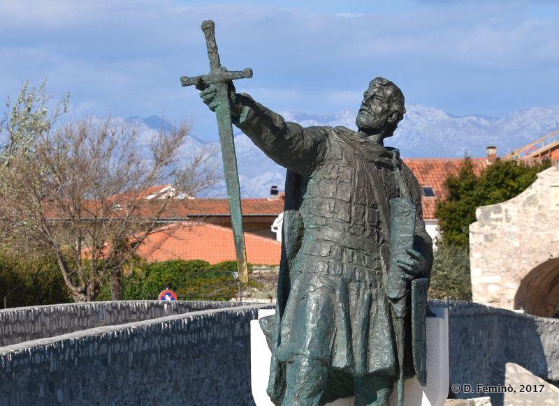 Duke Branimir statue (Nin, Croatia, 2017)
