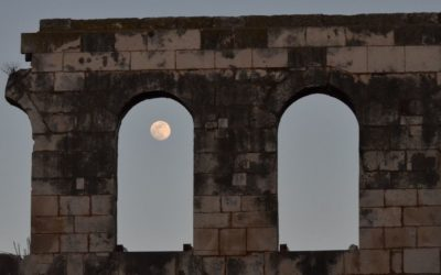 Diocletian's Palace and full moon