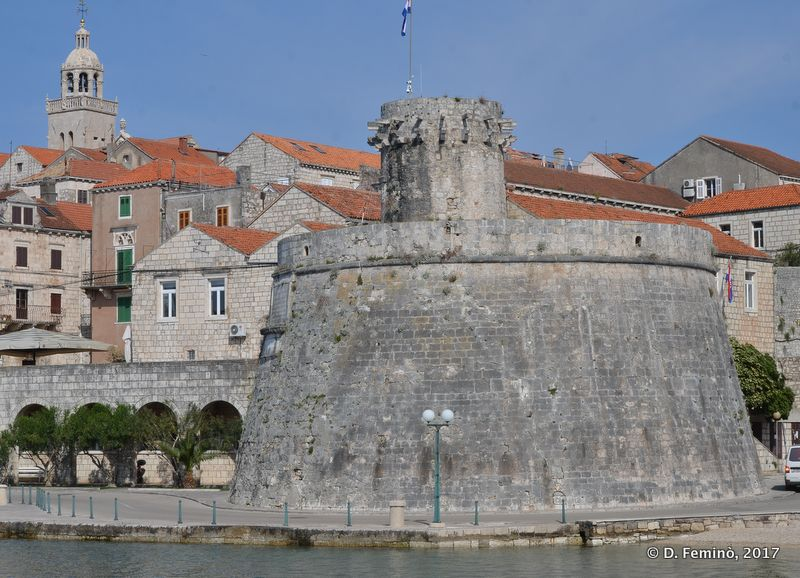 City wall bastion (Korčula, Croatia, 2017)