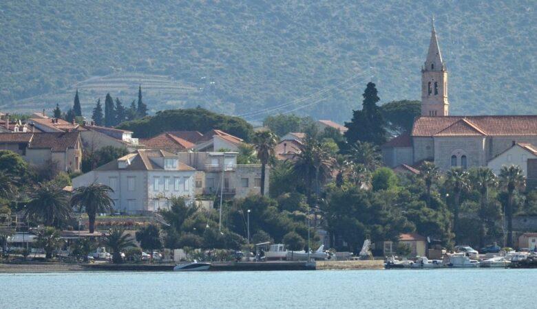 Orebić from the sea
