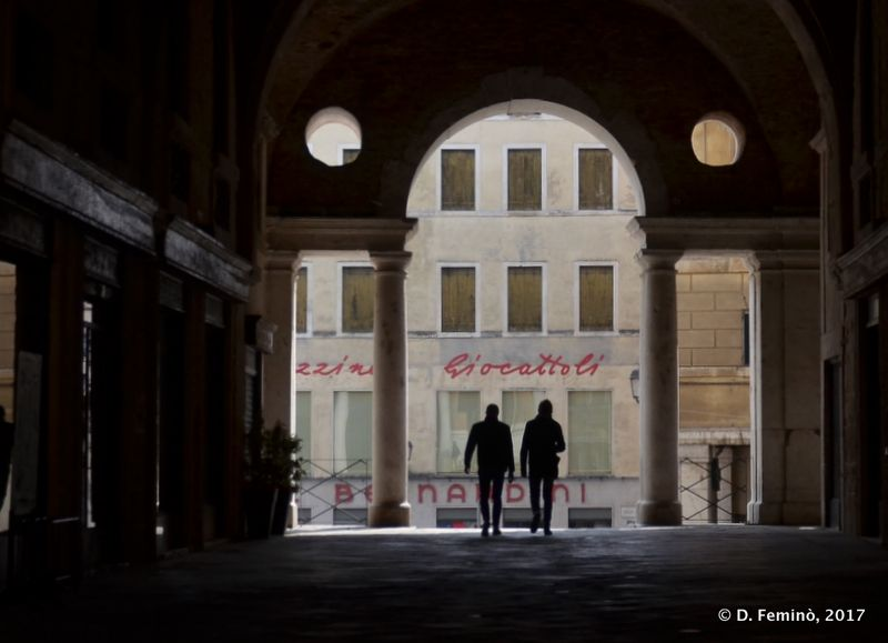Gallery in Piazza dei Signori (Vicenza, Italy, 2017)