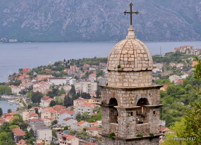 Belltower over the town (Kotor, Montenegro, 2017)