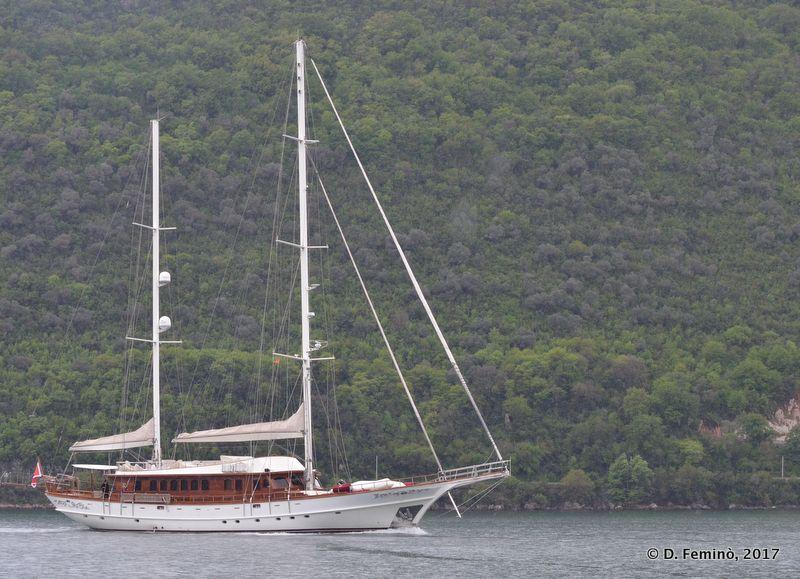 A sailing ship (Perast, Montenegro, 2017)