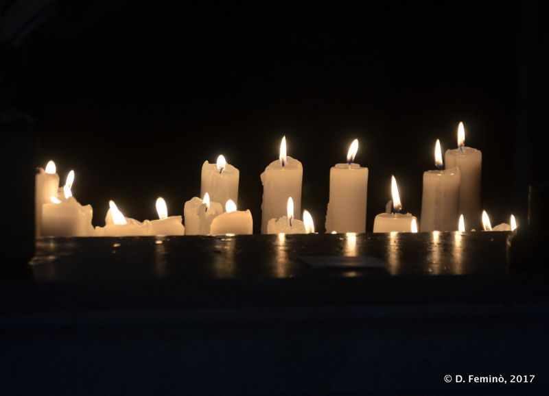 Candles in our lady of the rocks (Perast, Montenegro, 2017)