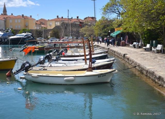 Boat in the marina (Budva, Montenegro, 2017)