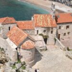 Old town of Budva from the citadel