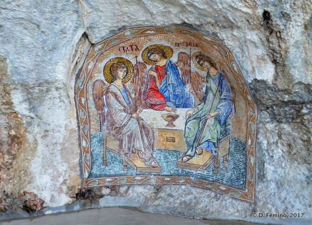 Niche with fresco (Ostrog, Montenegro, 2017)