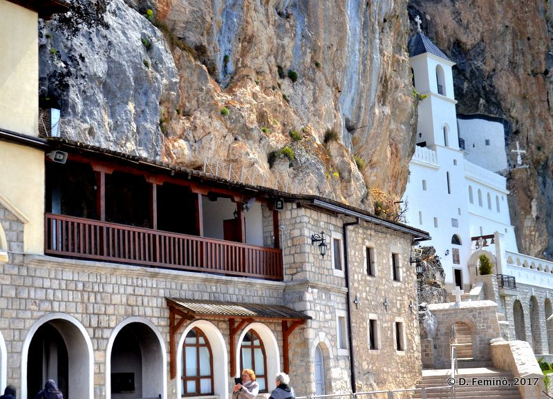 View of upper monastery (Ostrog, Montenegro, 2017)