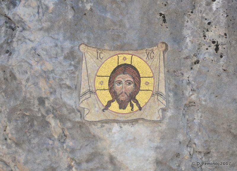 Mosaic in upper monastery (Ostrog, Montenegro, 2017)