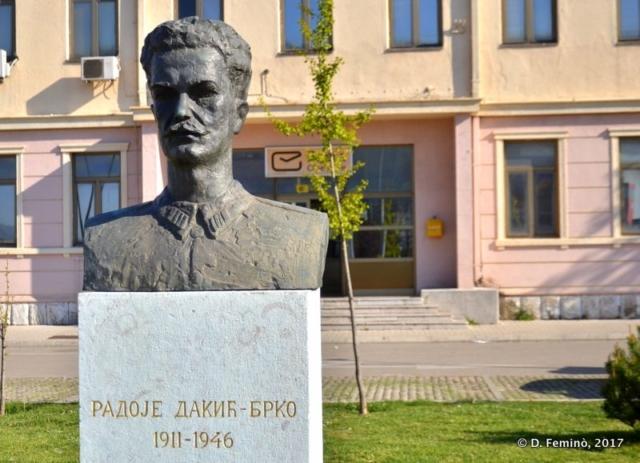 Bust of Radoje Dakić Brko (Nikšić, Montenegro, 2017)
