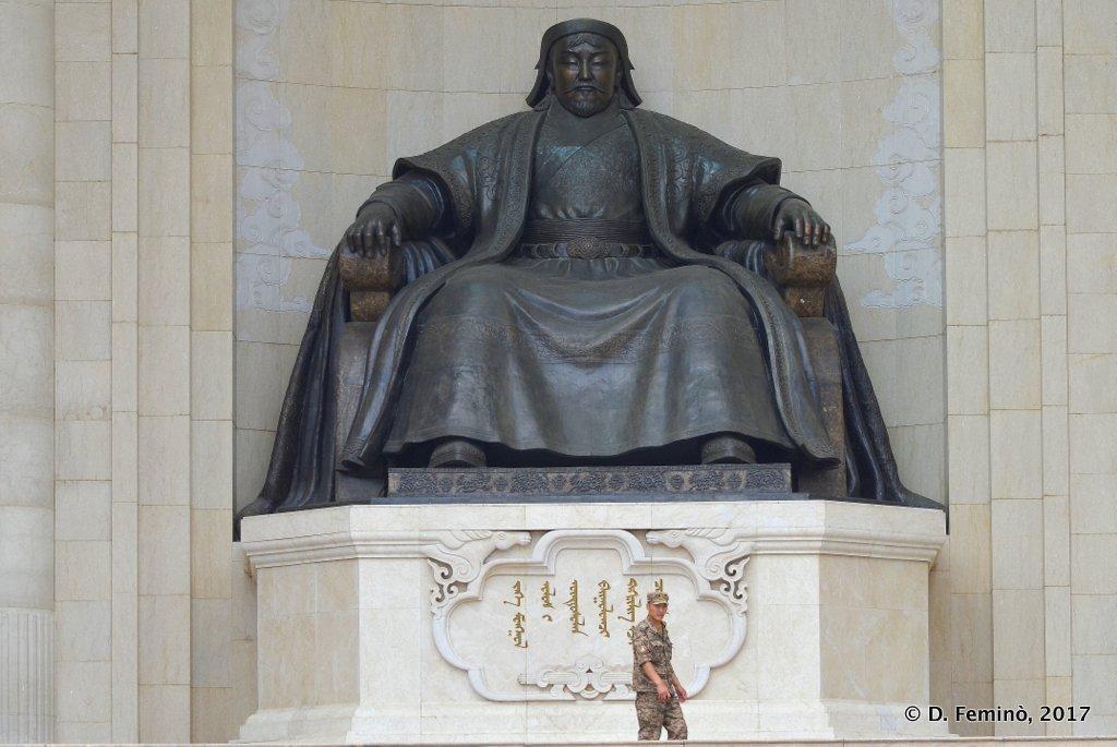 Huge statue in Chinggis Khan Square, Ulaanbaatar