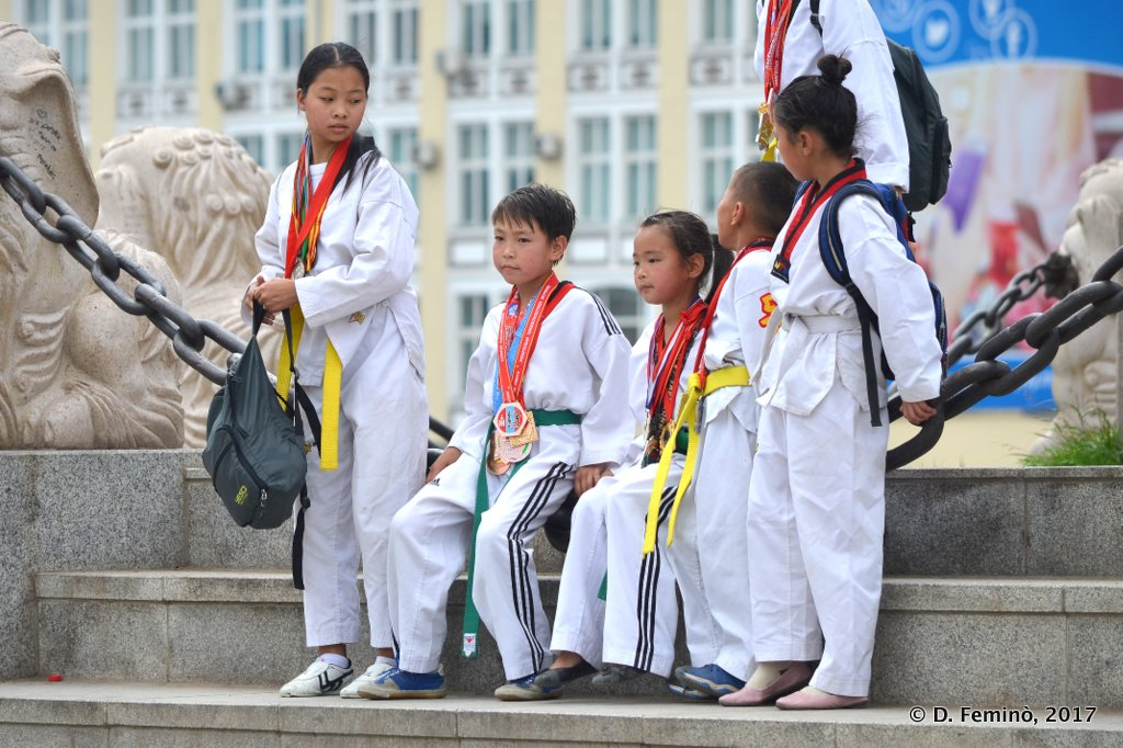 Young sportsmen, Ulaanbaatar