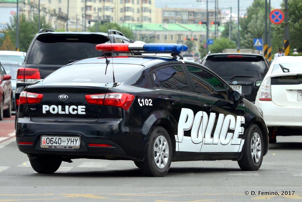 Police car, Ulaanbaatar