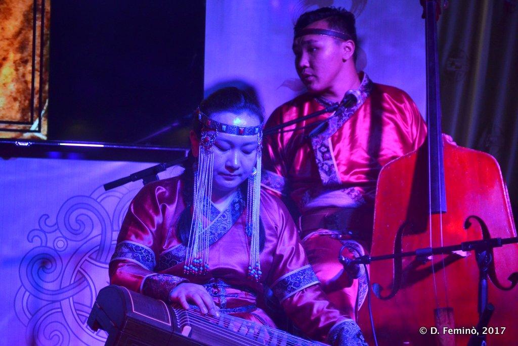 Music in modern nomad restaurant, Ulaanbaatar