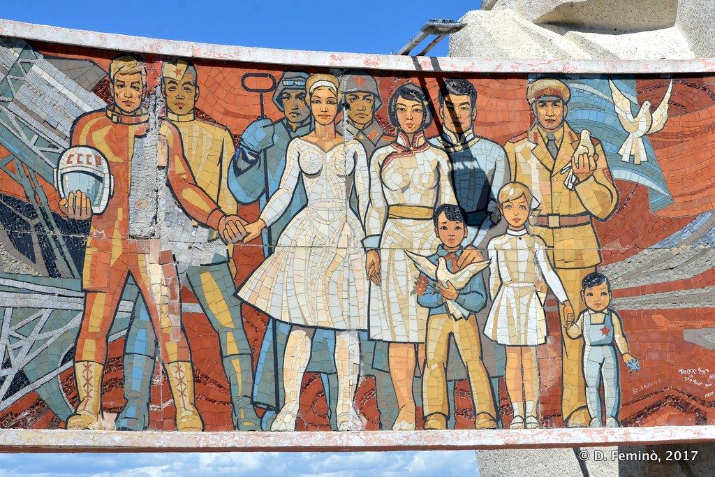 Mosaic in Zaisan Memorial, Ulaanbaatar