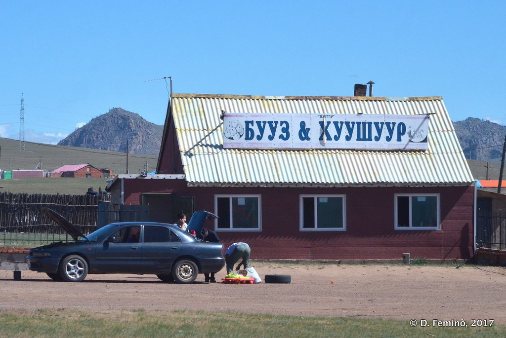A rest area along the road, Mongolia