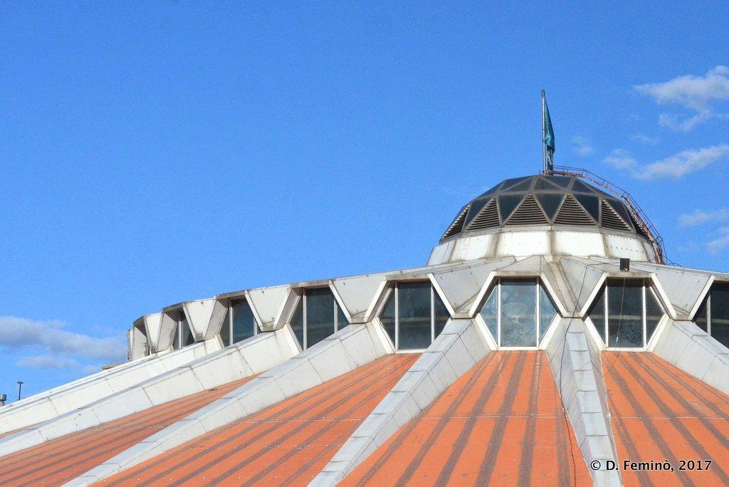 Roof of wrestling palace, Ulaanbaatar