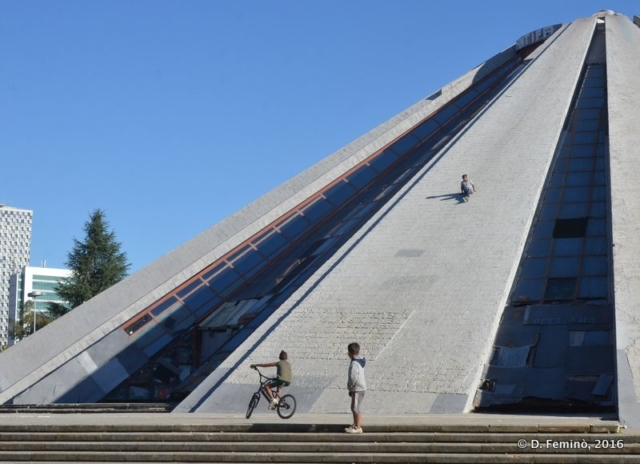 Playing on Enver Hoxha mausoleum (Tirana, Albania, 2016)