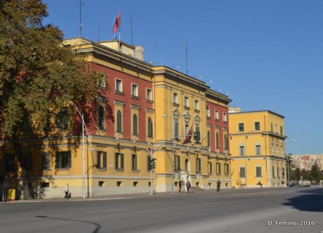 Italian style building (Tirana, Albania, 2016)