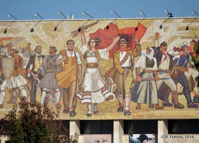 """The """"Albanian"""" mosaic (Tirana, Albania, 2016)"""