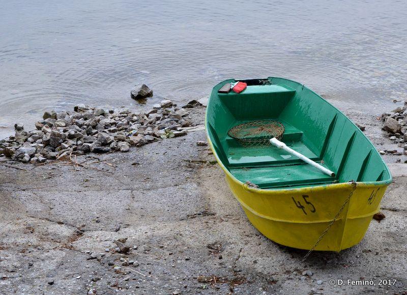 A boat on the lakeside (Lake Skadar, Albania, 2017)