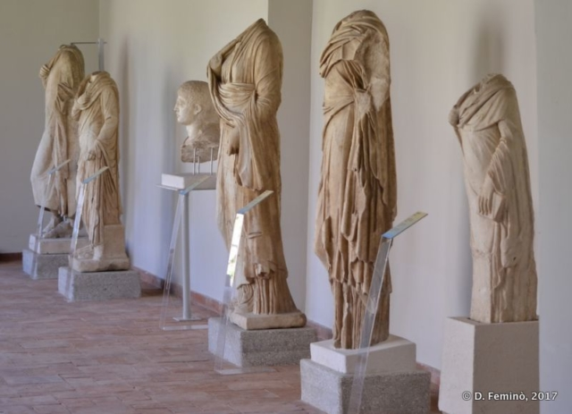 Roman statues in the museum (Apollonia, Albania, 2017)