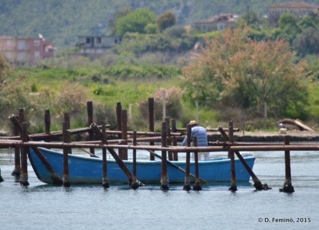 Fisherman in the bay (Butrint, Albania, 2017)