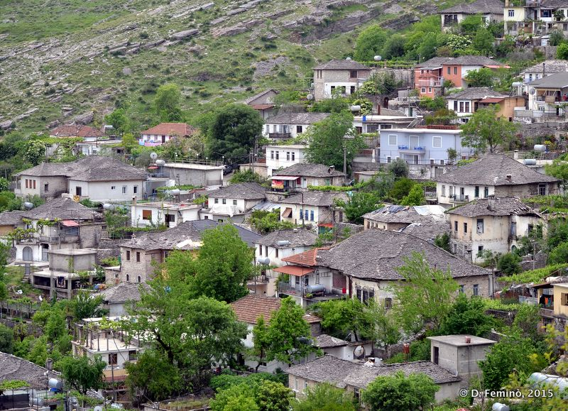 Small houses on the hill (Gjirokastër, Albania, 2017)
