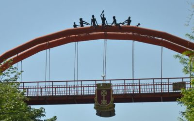 Pedestrian bridge in Haskovo