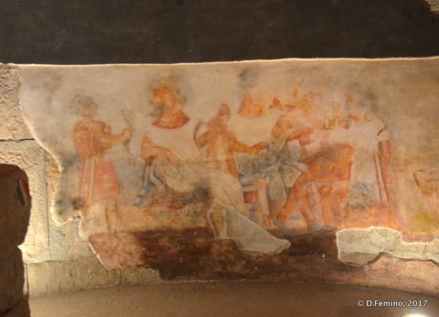 Fresco in museum (Aleksandrovo, Bulgaria, 2017)