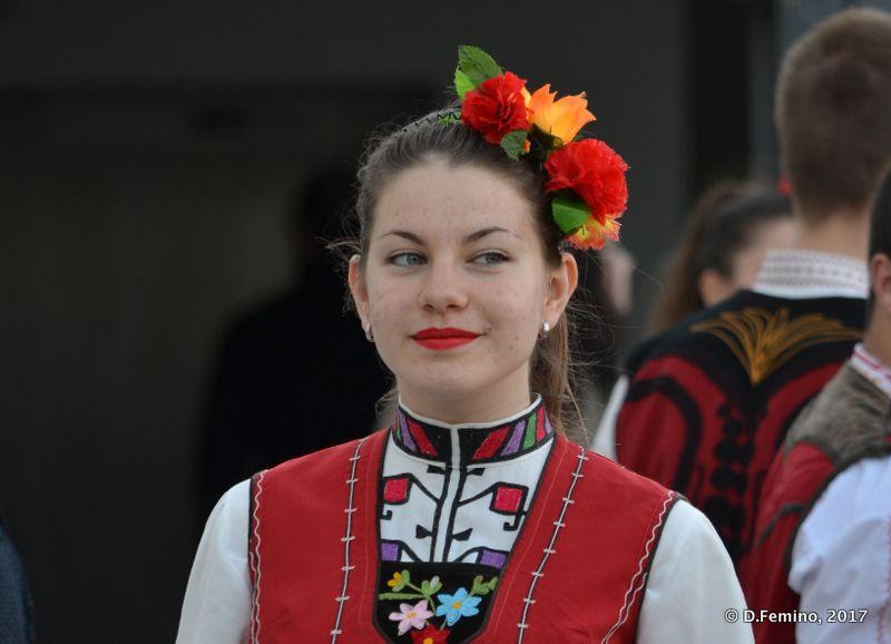 Folk dancer's smile (Burgas, Bulgaria, 2017)