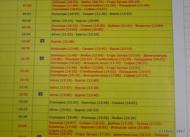 Timetable (Karnobat, Bulgaria, 2017)