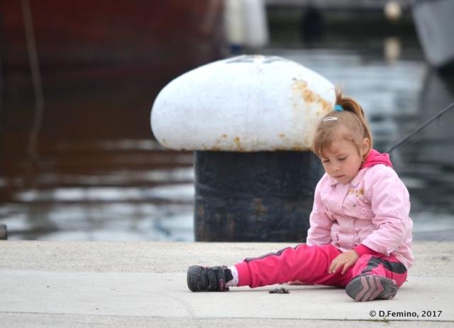 Playing on the dock (Varna, Bulgaria, 2017)