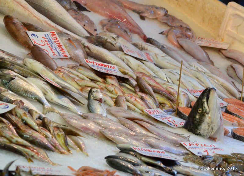 Fish at the market (Thessaloniki, Greece, 2017)