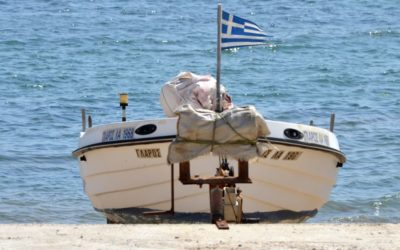 A boat on Alexandroupoli beach