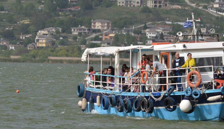 Boat on Ioannina lake