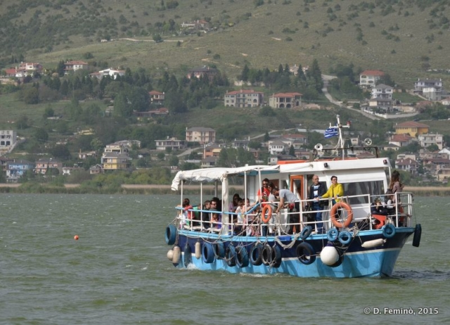 Ferry to Nissi Island (Ioannina, Greece, 2017)