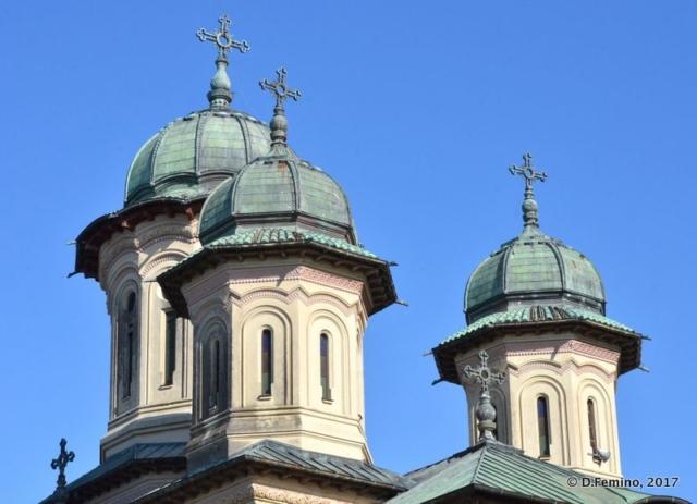 Orthodox Cathedral domes (Sulina, Romania, 2017)