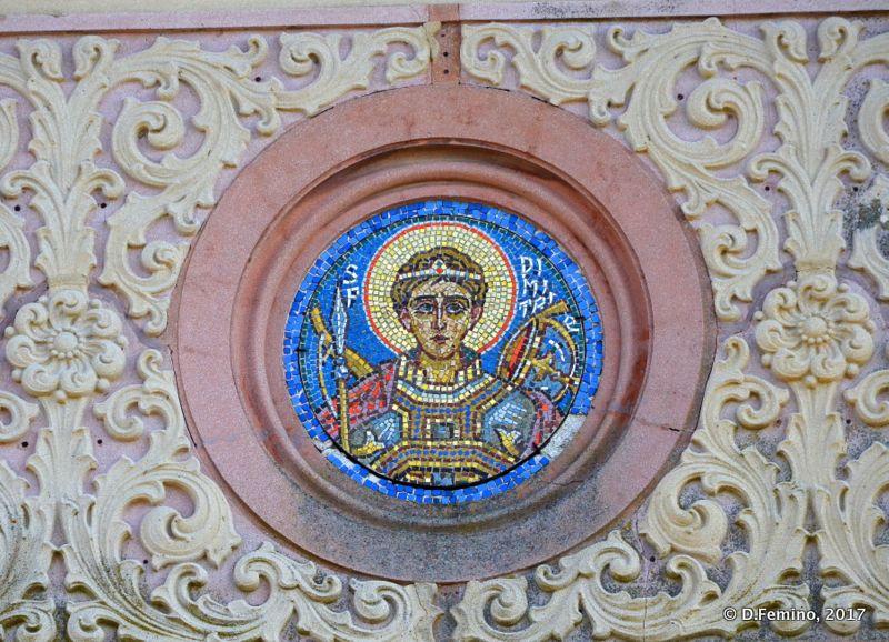 Icon in the greek church (Sulina, Romania, 2017)