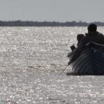 Boat at the end of Sulina's canal
