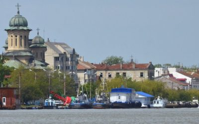 View of Sulina fromthe Danube