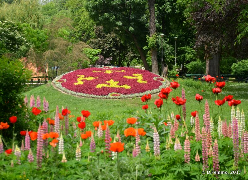 Flowerbed in Cișmigiu Park (Bucharest, Romania, 2017)