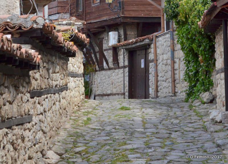 Street in the old town (Nesebar, Bulgaria, 2017)